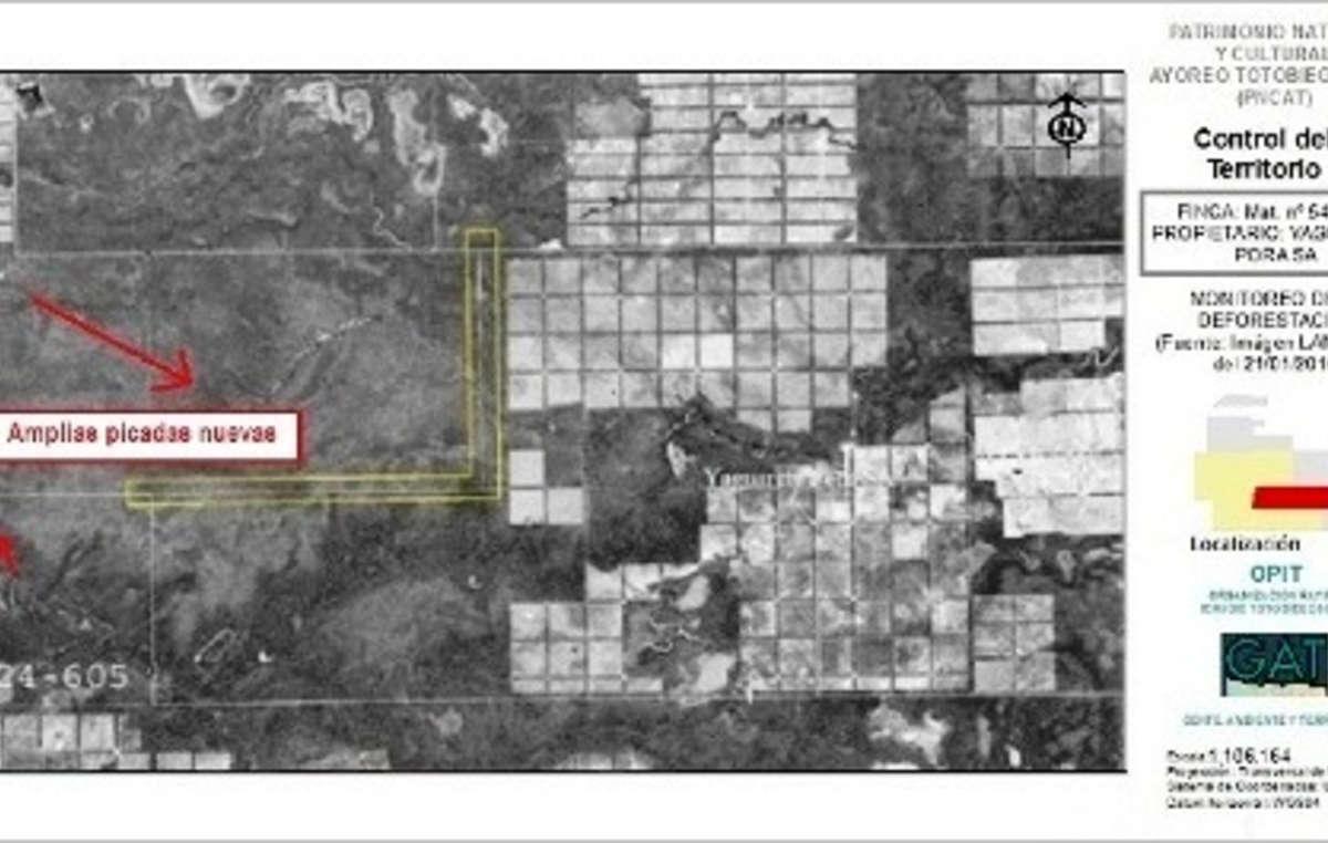 Imagen vía satélite del Chaco paraguayo. Febrero de 2016.