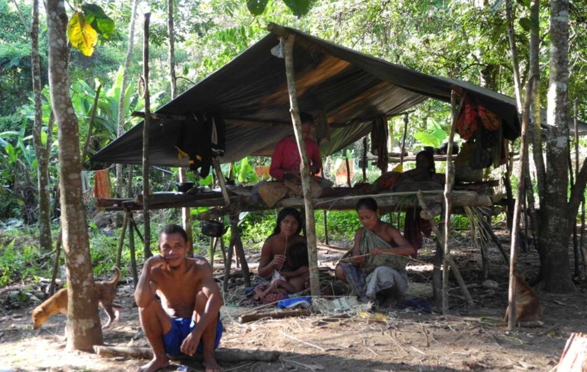 Im Nationalpark ist die Lebensqualität der Orang Rimba deutlich höher, als in den Lagern außerhalb, die die Regierung für sie gebaut hat.