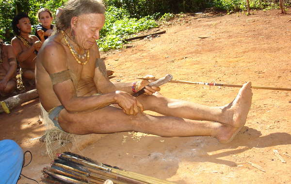 Konibu at his home in the Amazon