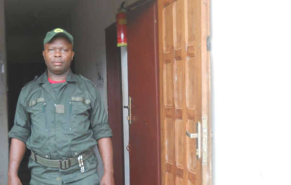 Cameroonian ecoguard Mpaé Désiré, who in 2015 was accused of beating Baka and in 2016 was arrested for involvement in the illegal wildlife trade.