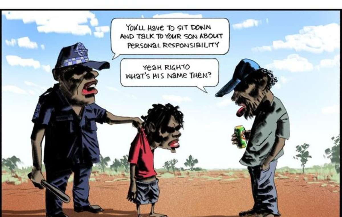 Cartoon by Bill Leak published in The Australian and widely accused of racism towards Aboriginal people