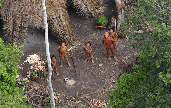 It is thought that the uncontacted Indians who recently emerged in Brazil have been fleeing illegal logging and drug trafficking in Peru (picture taken in 2010).