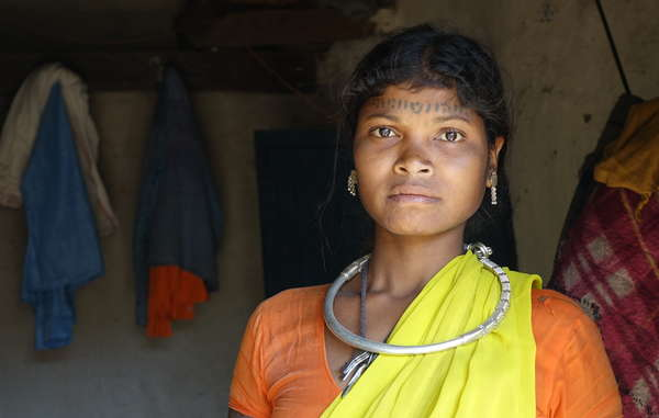 Baiga woman evicted from Kanha. The Baiga have struggled to find land since their eviction and now face poverty and misery.
