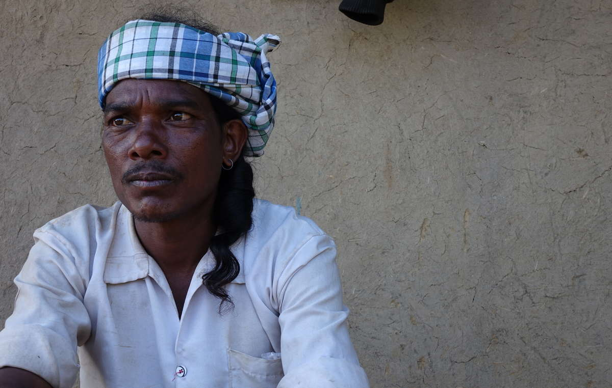"Baiga man evicted from Kanha National Park. Whole communities have been scattered and destroyed. One evicted Baiga woman told Survival: ""We were the kings of the jungle, but here they treat us like dogs. It's only sadness here""."