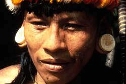 Un Waorani, Equateur.