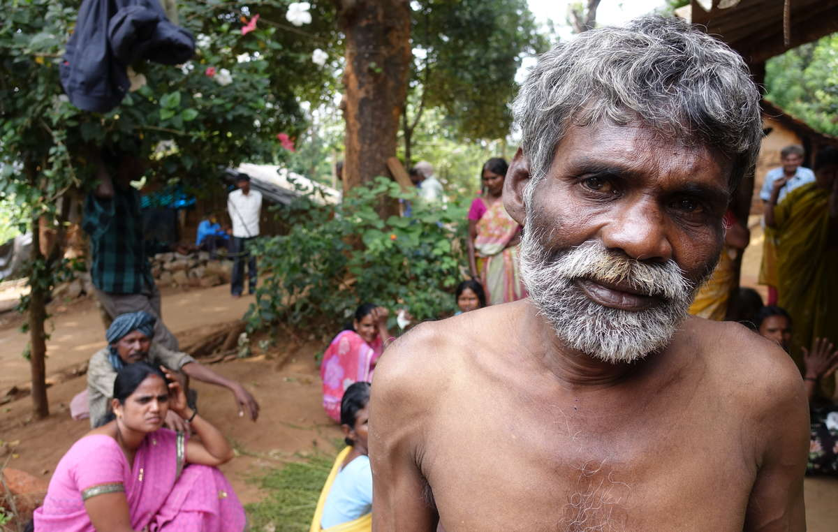 This Jenu Keruba man was shot by forest guards. Tribes like the Jenu Keruba face routine harassment, and illegal eviction from their ancestral home.