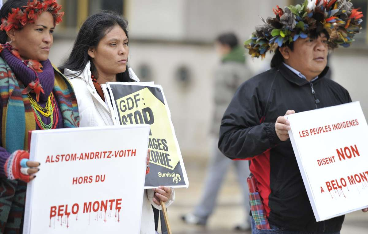 Des leaders indigènes appellent à l'arrêt de trois projets de barrages hydroélectriques en Amazonie.