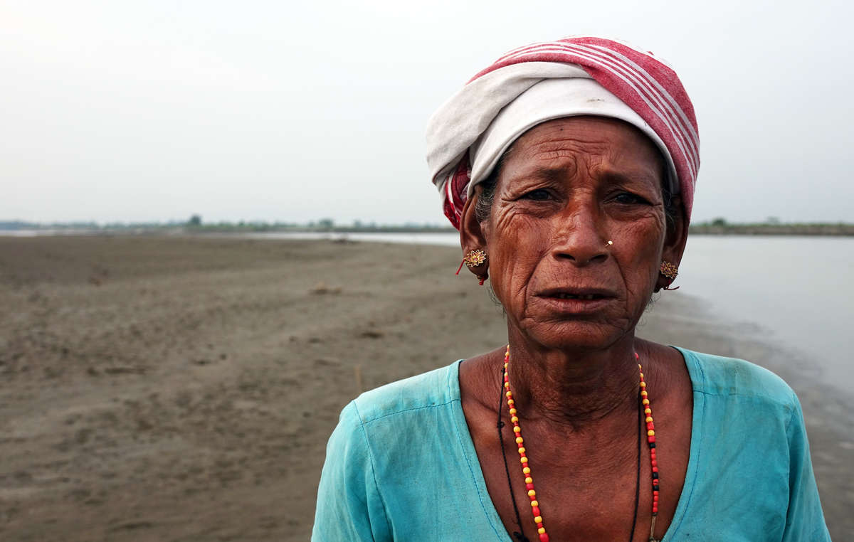 Mujer indígena de la tribu mising, Kaziranga, India.