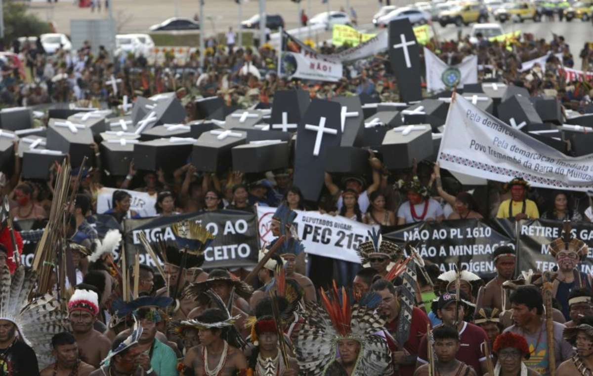Major indigenous protests in Brasilia, April 2017