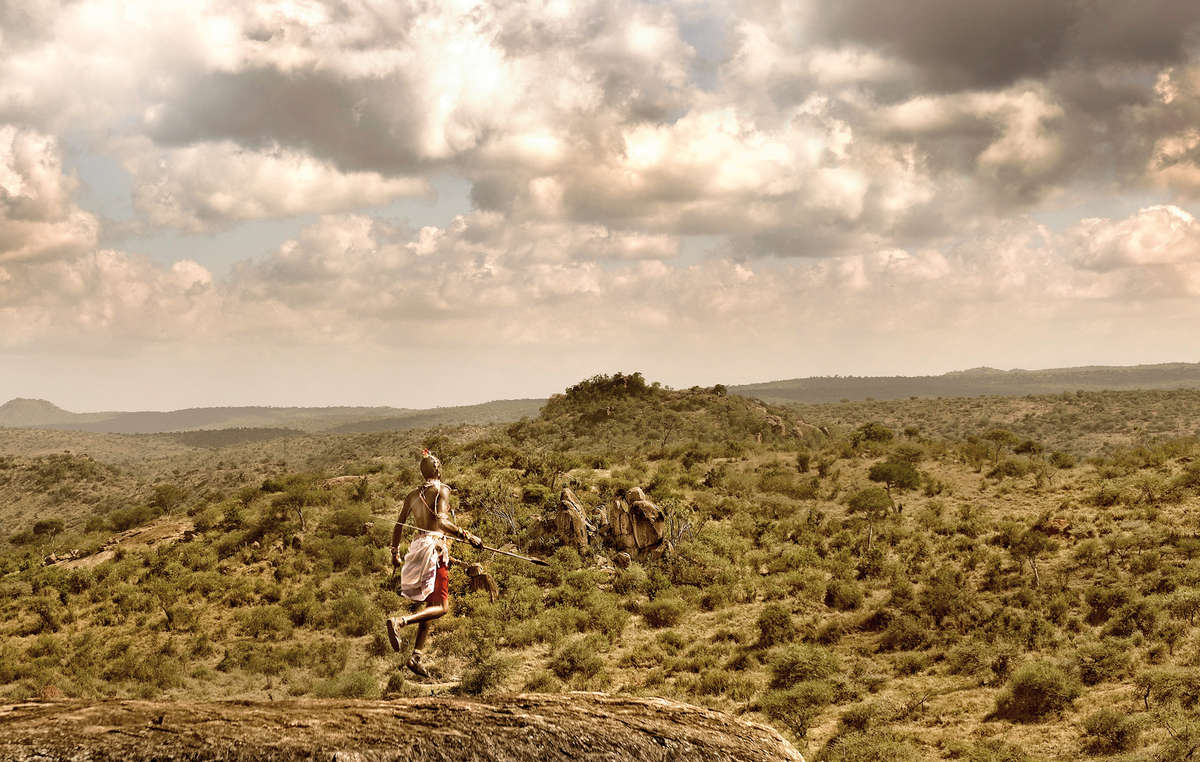 The winning photo of a Samburu man in Kenya by Timo Heiny.