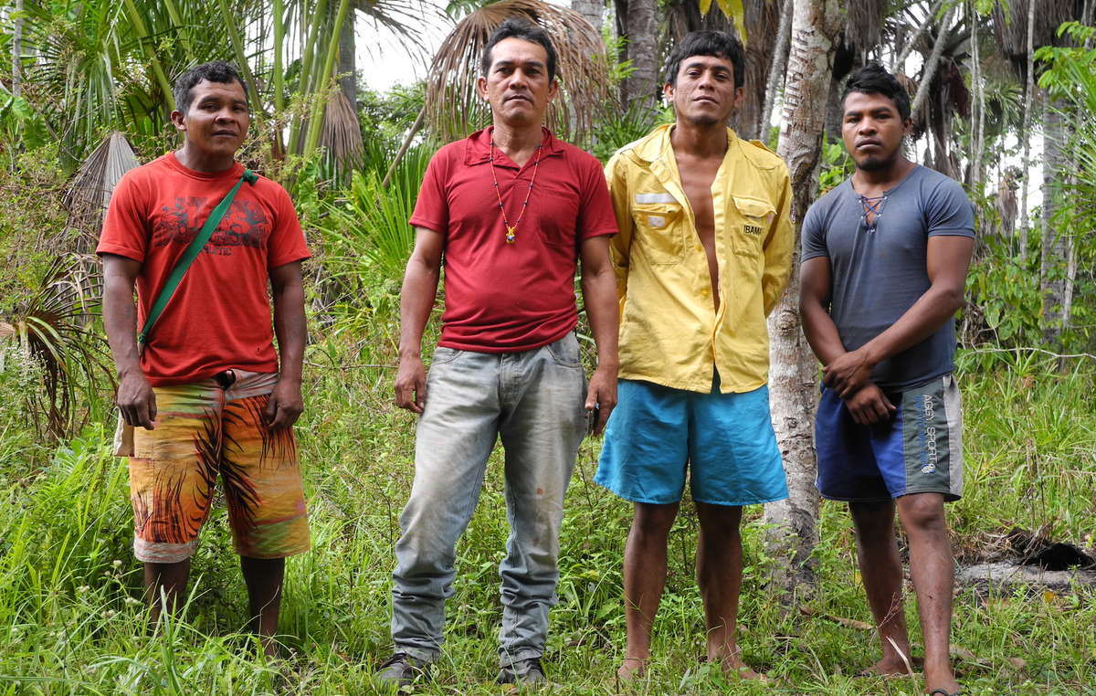 The Guajajara Guardians protect their forest in the Brazilian Amazon. Paulo Paulino Guajajara (on far right) was murdered in 2019 by land invaders.