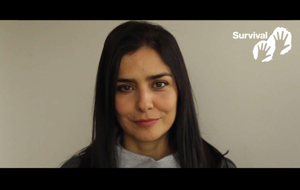 A atriz e embaixadora da Survival International Letícia Sabatella apoia a campanha global pelas tribos isoladas.