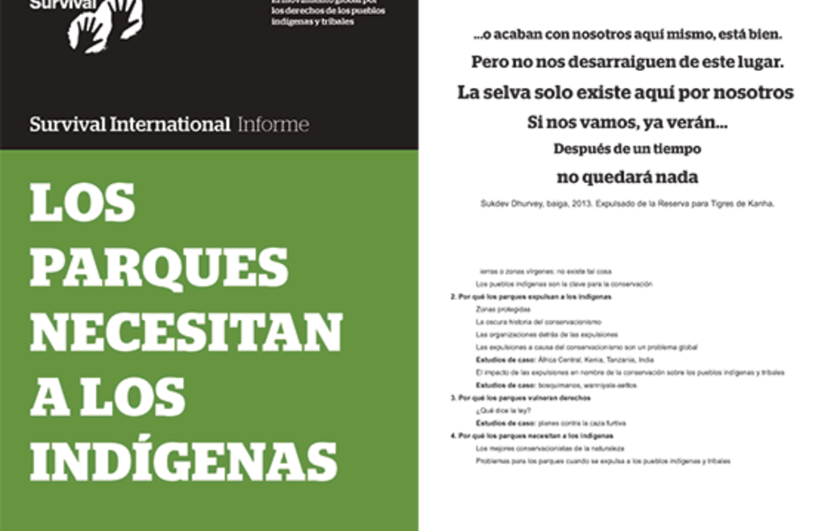 Informe de Survival International 'Los parques necesitan a los indígenas'.