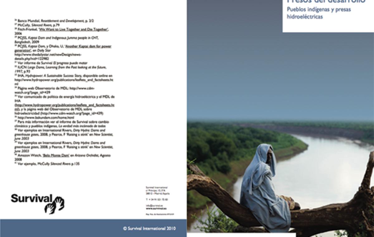 Informe de Survival International 'Presos del desarrollo'.