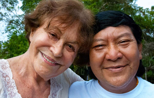 Claudia Andujar, photographer and activist, with Davi Kopenawa, a shaman and key spokesperson for the Yanomami, 2010.