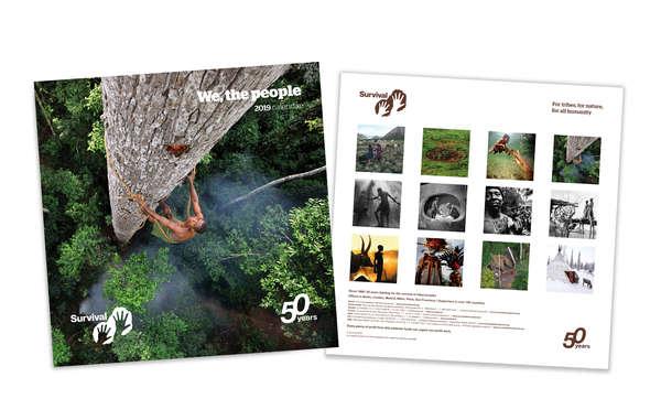 Survival-Kalender 2019, Cover und Rückseite.