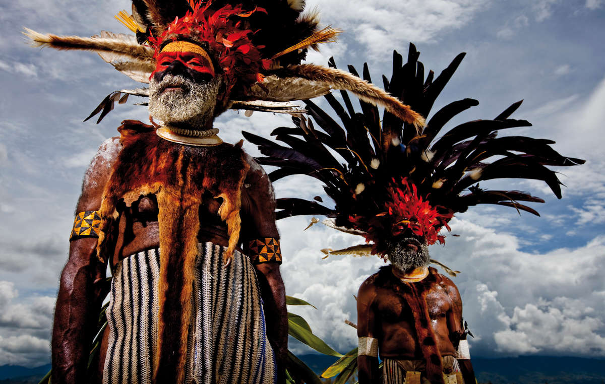 Mindima elders, New Guinea, 2008. Survival Calendar 2019, October.
