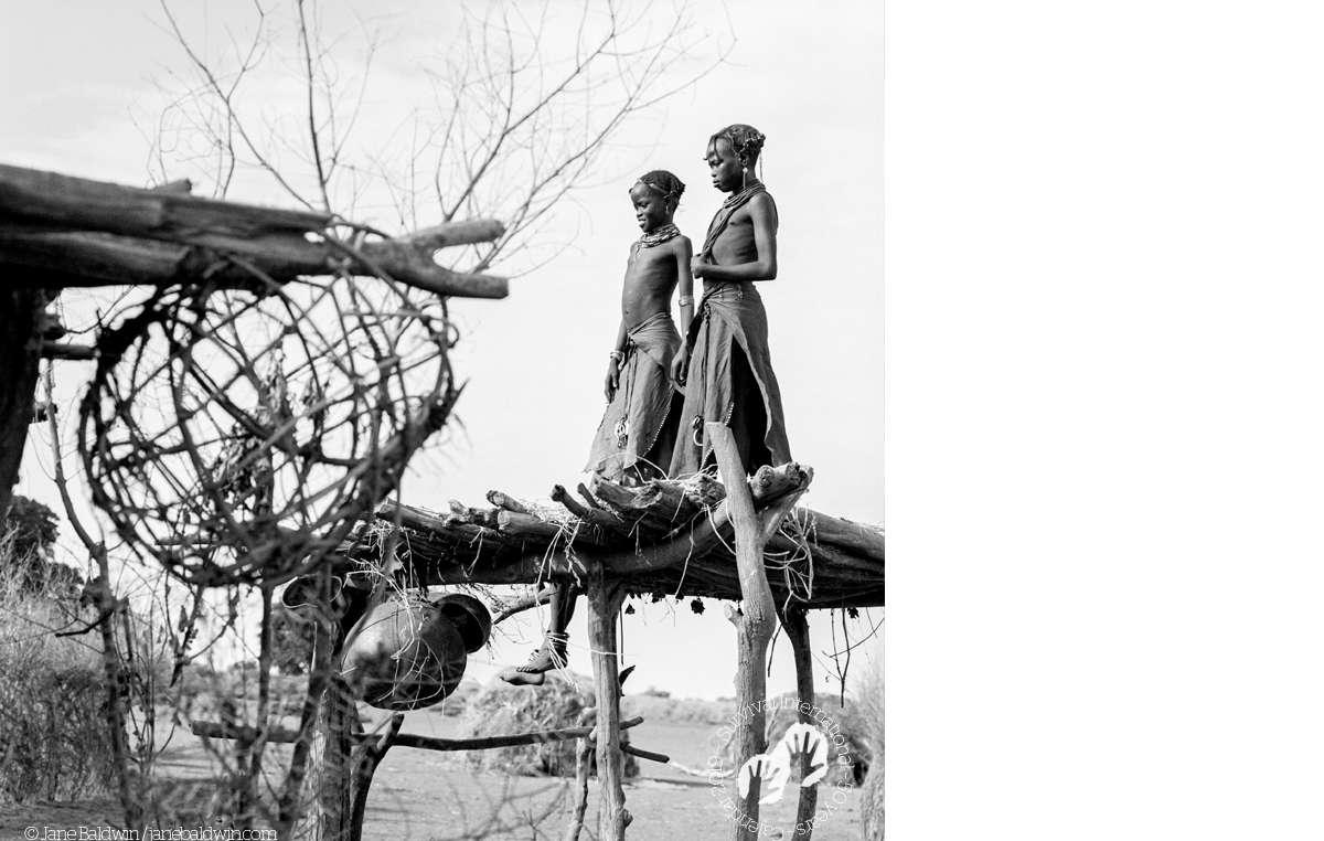 Dassanech girls, Omo River Delta, Ethiopia, 2007. Survival Calendar 2019.