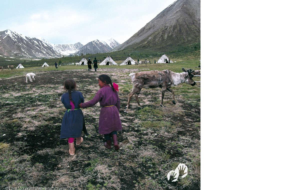 Tsaatan village, Mongolia, 2004. Survival Calendar 2019.