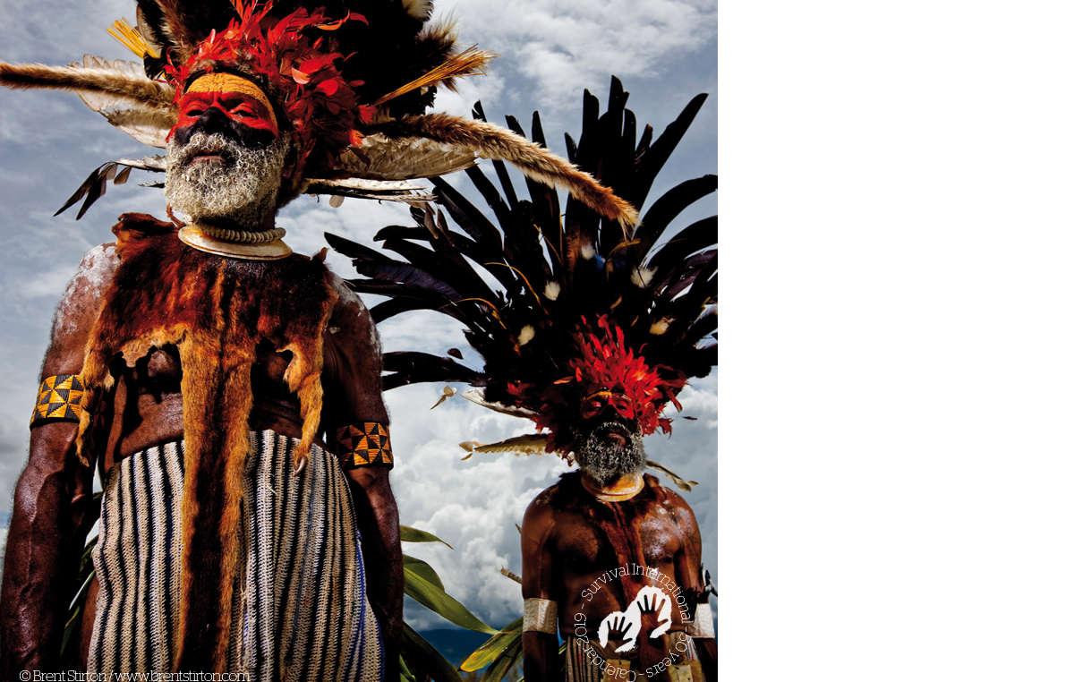 Mindima elders, New Guinea, 2008. Survival Calendar 2019.