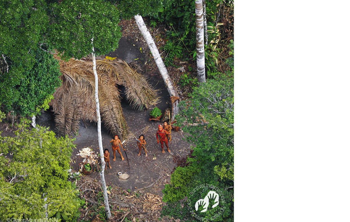 Uncontacted tribe, Brazil, 2010. Survival Calendar 2019.