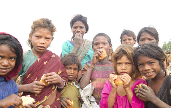 Children from the Bihor tribe, Jharkhand state. There are 84 million tribal people in India.