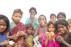 Enfants de la tribu bihor, Etat du Jharkhand. LInde compte 84 millions dautochtones.