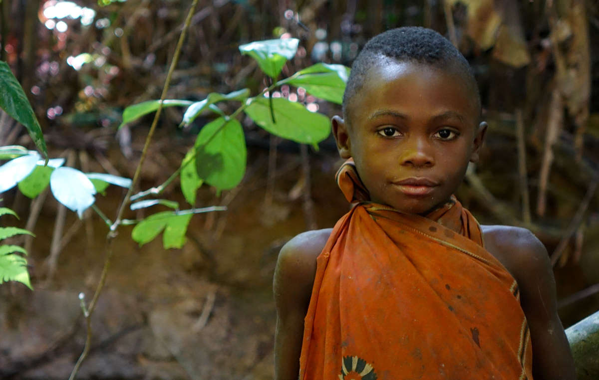 A Baka girl in Republic of Congo.