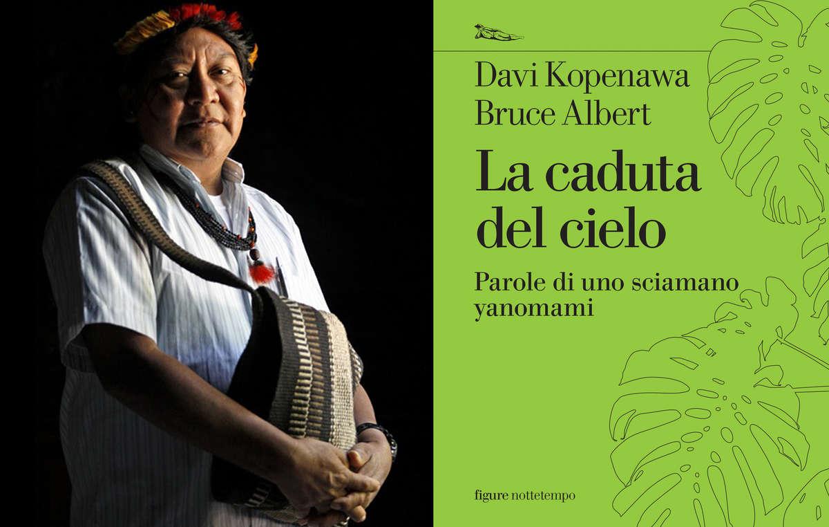 """Davi Kopenawa Yanomami e la sua autobiografia """"La Caduta del Cielo - Parole di uno sciamano yanomami"""" edito da Nottetempo."""