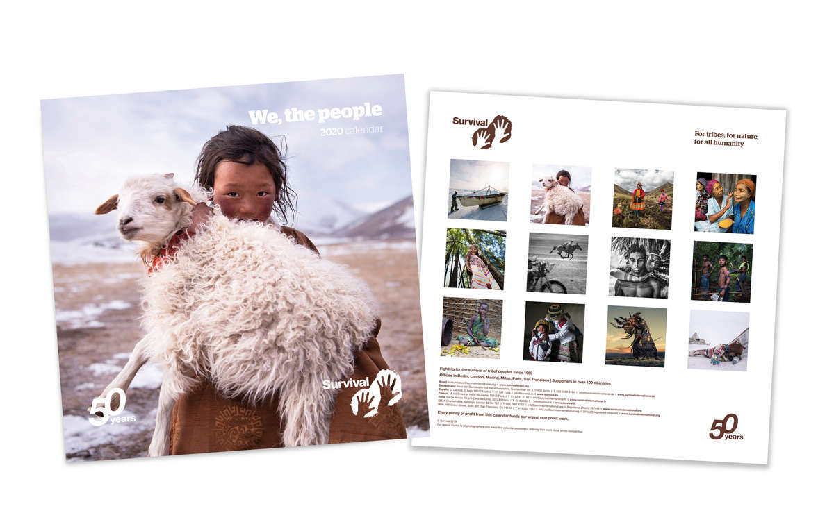 Portada y contraportada del calendario de Survival We, The People 2020