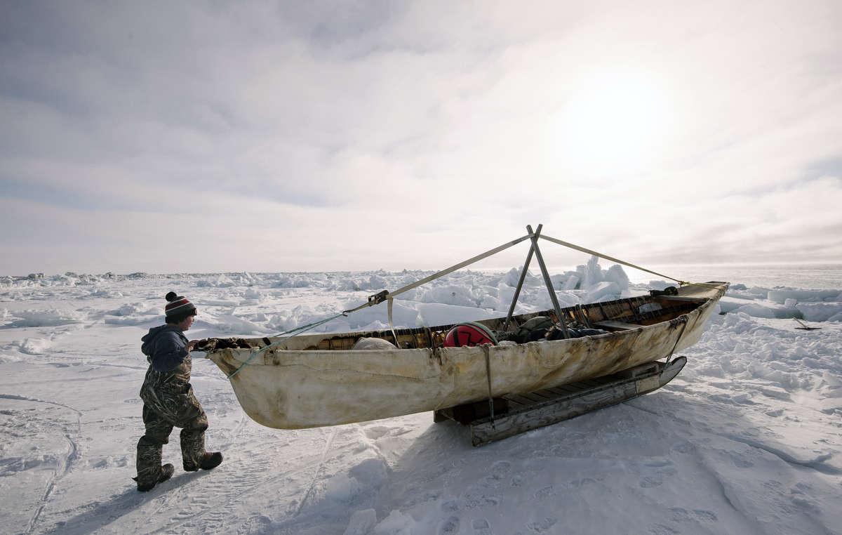 Garçon iñupiat, Alaska, États-Unis, 2016