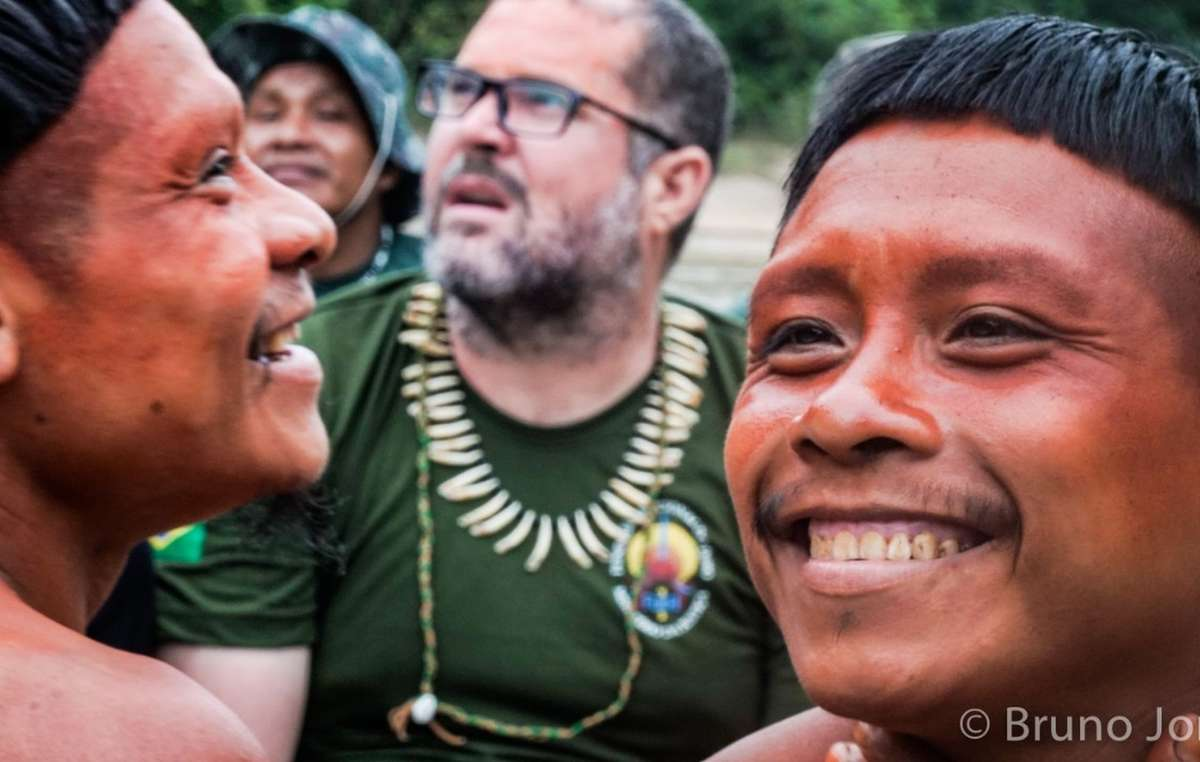 Bruno Pereira (center) has been sacked. Experts say his dismissal represents yet another backwards step in the policy to protect uncontacted tribes.