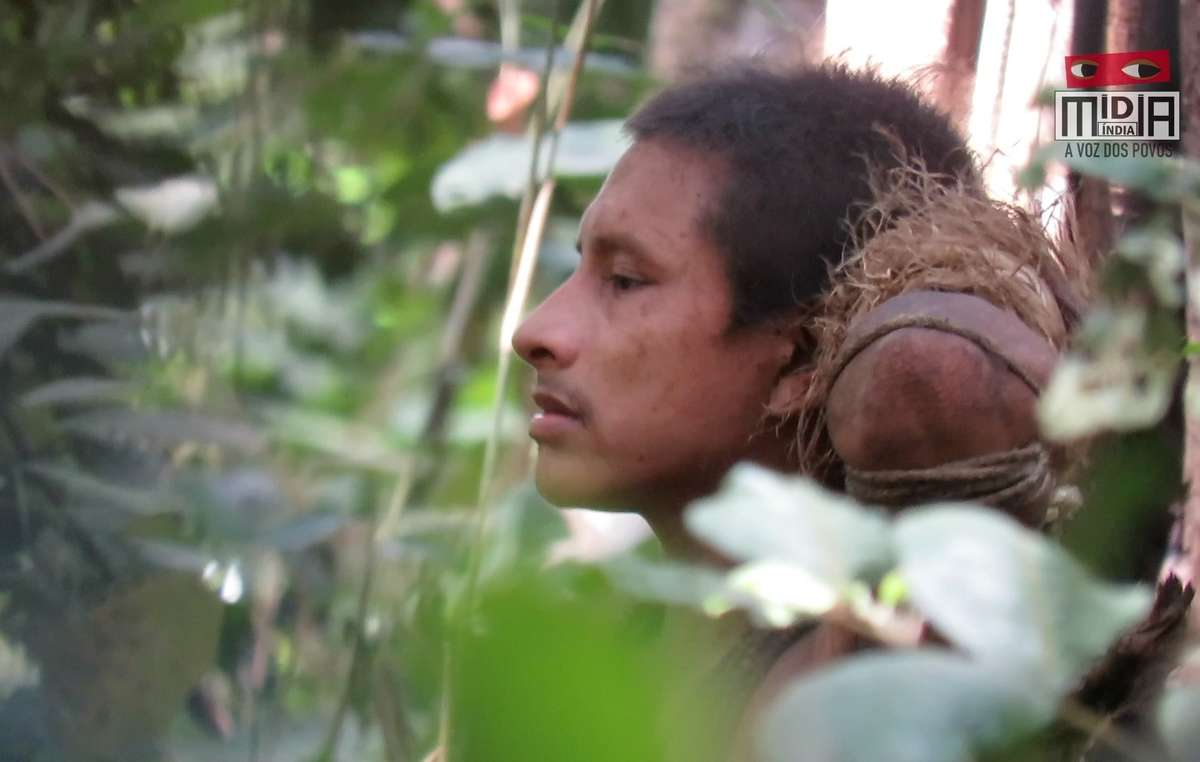 This uncontacted Awá man's name is not known. But his rainforest has been destroyed around him, and just one small island of forest is now left. Loggers are now moving in.