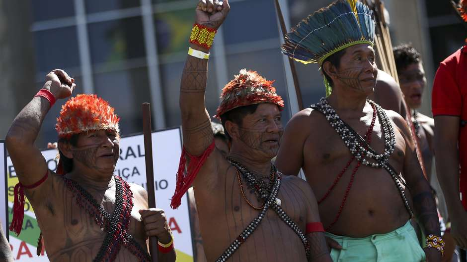 Leaders and representatives of the Munduruku tribe have denounced goldminers operating illegally in their territory