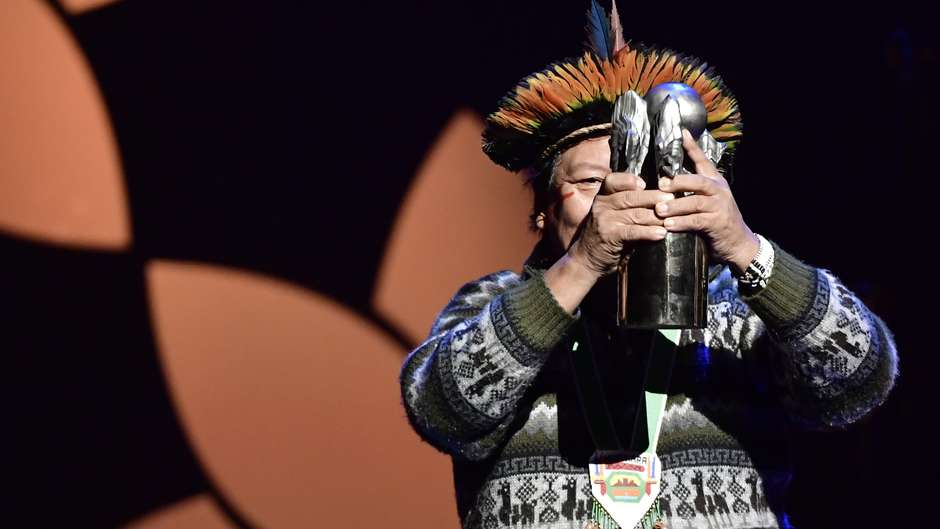 "Renowned Yanomami shaman Davi Kopenawa, the ""Dalai Lama of the Rainforest,"" receives this year's Right Livelihood Award"