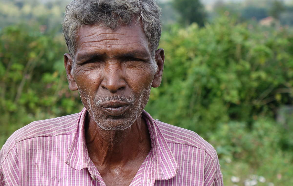 Gurumala, a Jenu Kuruba man who was evicted from Bandipur Tiger Reserve around 30 years ago.