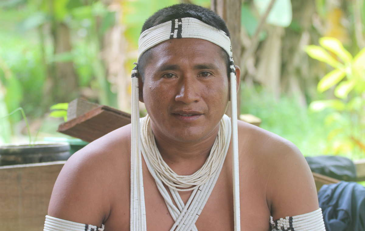 Kenampa Marubo, leader of UNIVAJA, the indigenous organization of the Javari Valley.