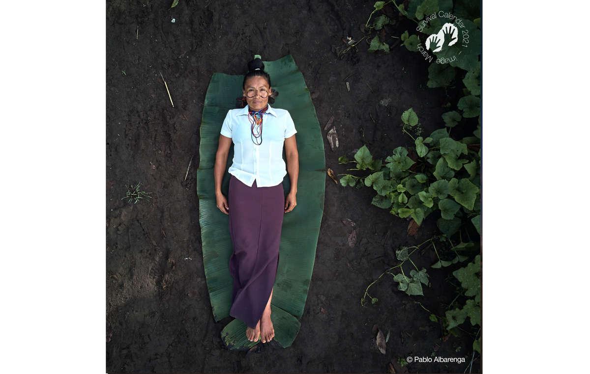 Survival Calendar Survival 2021. March. Achuar, Ecuador, 2020.