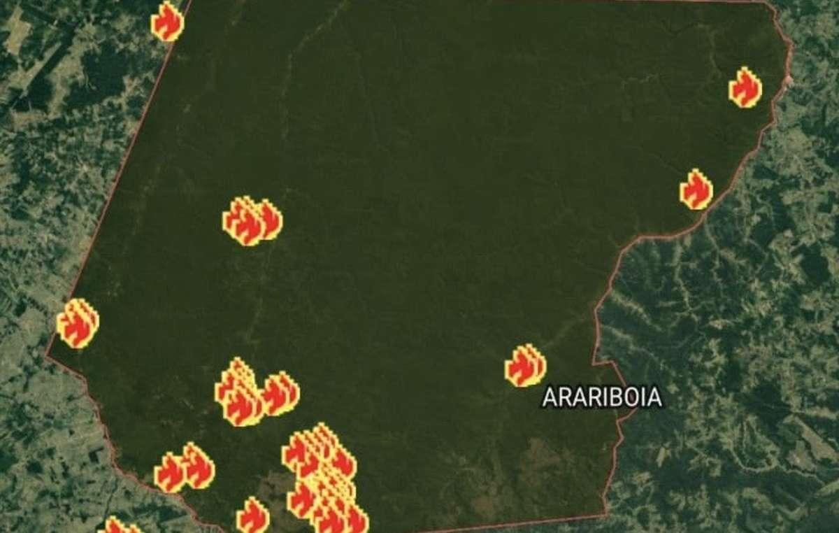 Incendies dans la réserve dArariboia, où vivent des Awás non contactés, 2020.