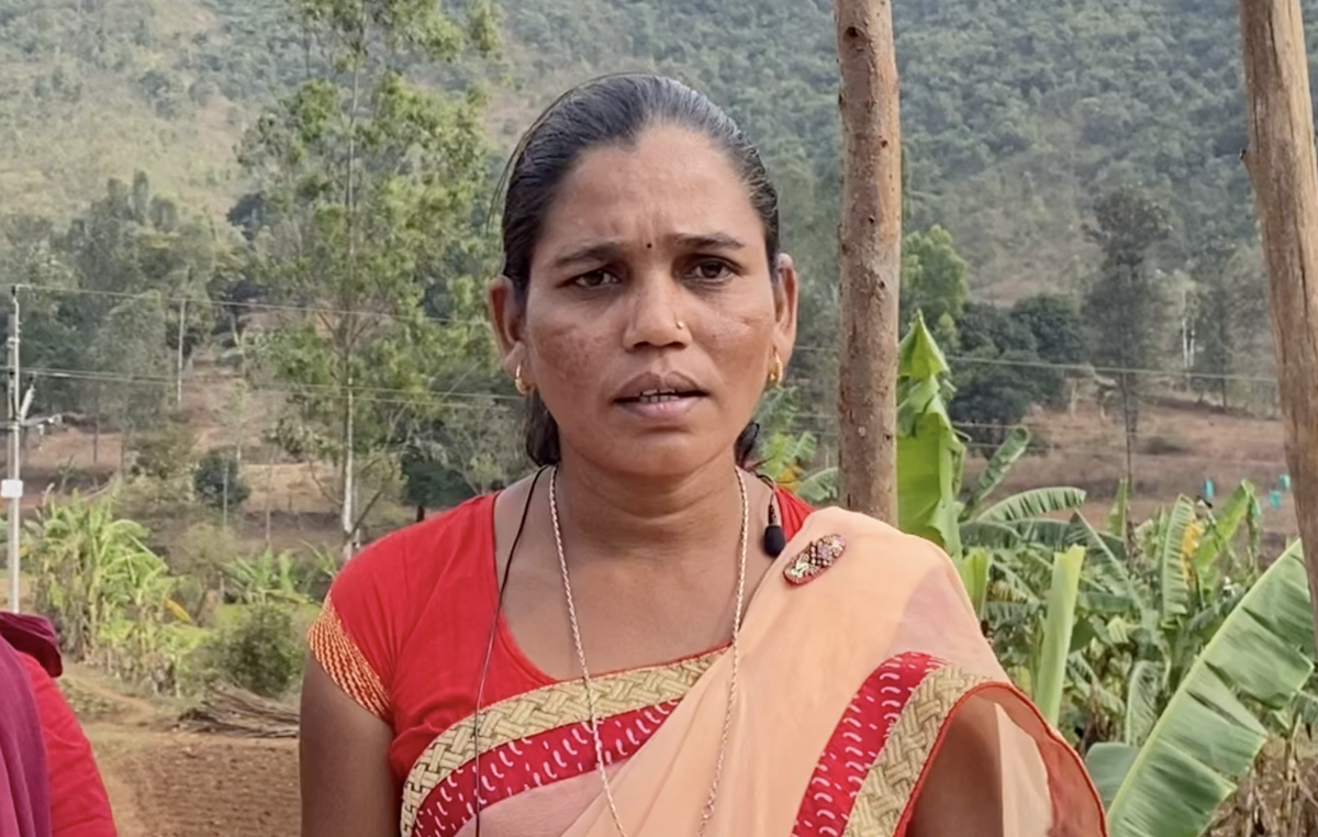 Hidme Markam, an Adivasi activist arrested for peacefully campaigning for her people's rights.