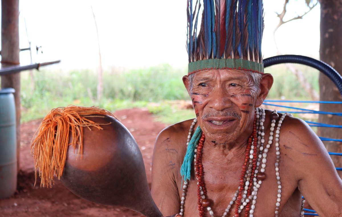 Tito Vilhalva, uno de los líderes de la comunidad de Guyra Roka.