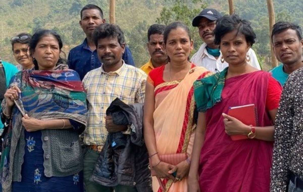 Adivasi women activists like Hidme Markam (front row, second right) simply want to defend their bodies, lives, lands and livelihoods from immense threats.