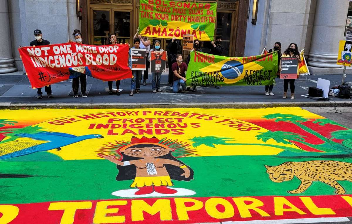 """Activists and protestors in San Francisco call for the Time Limit Trick not to be approved on the eve the Supreme Court begins its ruling: """"Indigenous history predates 1988."""