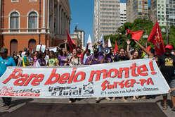 Les Brésiliens ont manifesté contre le barrage de Belo Monte dans la ville amazonienne de Belém