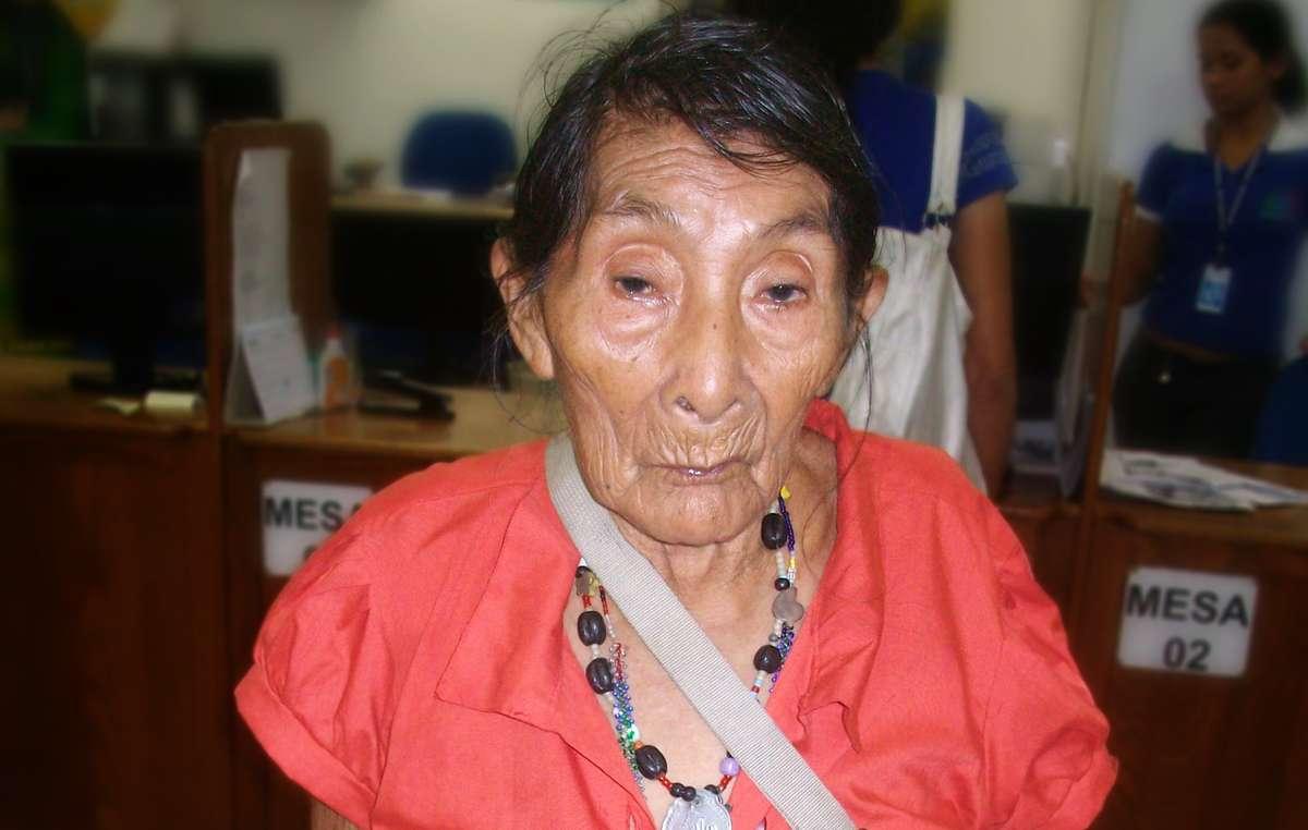 Maria Lucimar Pereira vom Kaxinawá-Volk ist wahrscheinlich der älteste Mensch der Welt.