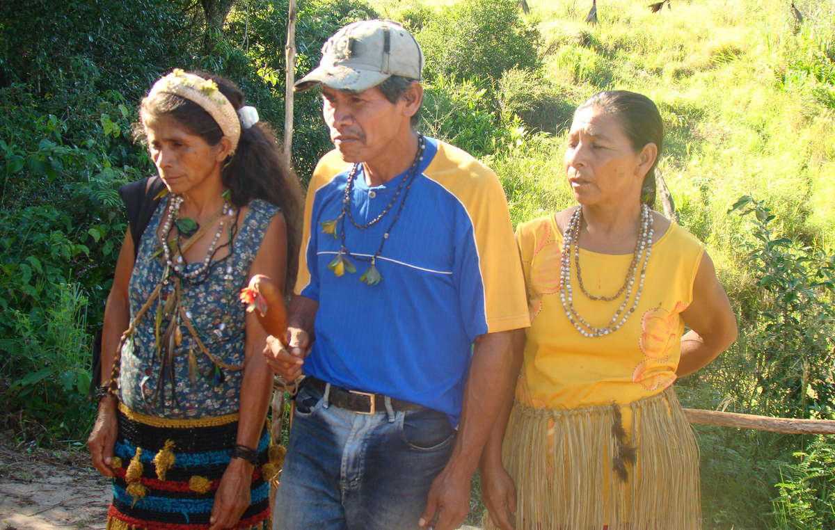 Guarani de la communauté de Y'poi, Etat du Mato Grosso do Sul.