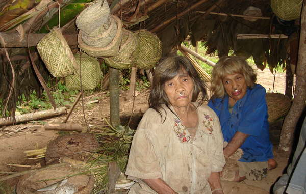 Matsigenka women living in the Kugapakori-Nahua reserve, close to Camisea