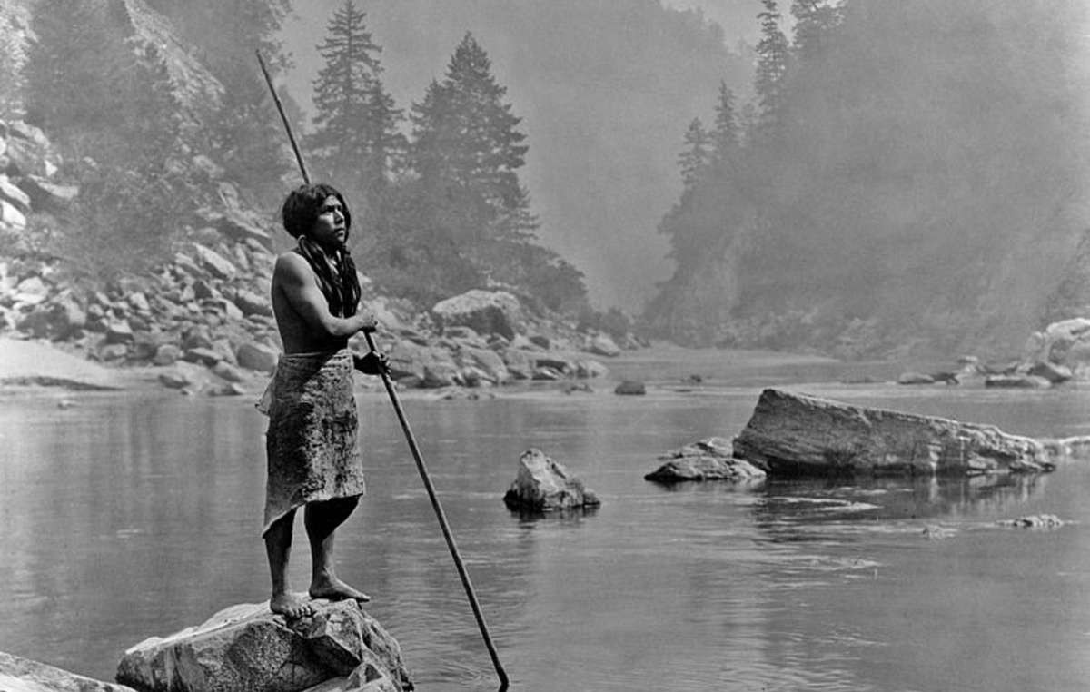 Hupa fisherman, US.