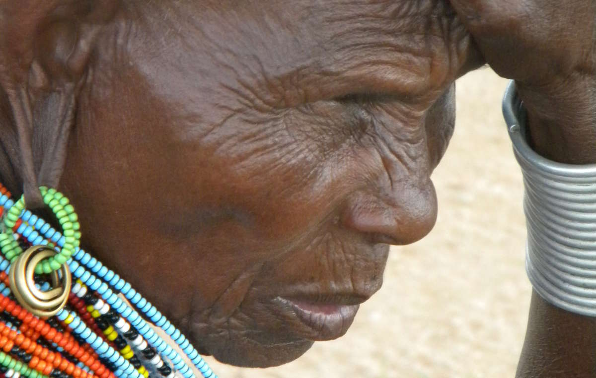 A displaced Samburu elder from Kenya's Laikipia district