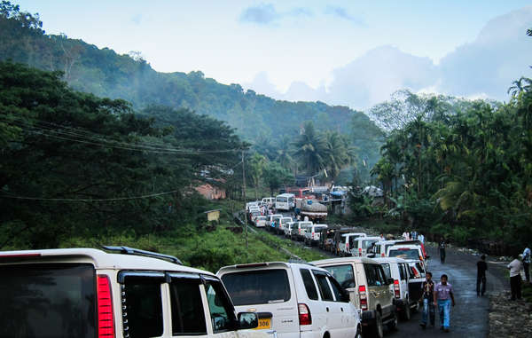 Hundreds of cars use the Andaman Trunk Road illegally each day.
